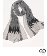 100% Cashmere Scarf. Pure Dark Gray long Cashmere Scarf. Christmas gift. Organic shawl, winter blanket Scarf