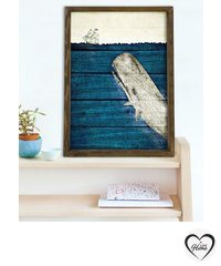 Decorative Framed MDF Painting - Multicolor