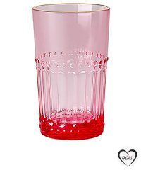 Rice glas akryl 25 cl Pink-gold edge